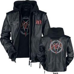 Slayer Pentagram Kurtka skórzana czarny. Czarne kurtki męskie bomber Slayer, xl. Za 934,90 zł.