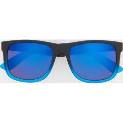 Okulary przeciwsłoneczne - Niebieski. Niebieskie okulary przeciwsłoneczne męskie aviatory Reserved. Za 49,99 zł.