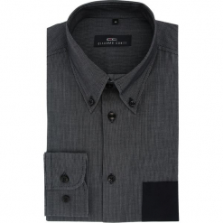 Koszula BIAGIO slim  15-08-03-K. Czarne koszule męskie na spinki Giacomo Conti, m, w paski, z bawełny, button down, z długim rękawem. Za 199,00 zł.