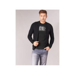 Swetry rozpinane / Kardigany Guess  ATTAHRA. Czarne kardigany męskie marki Guess, l, z aplikacjami. Za 349,00 zł.