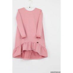 Sukienka pudrowa z kokarda. Czerwone sukienki dziewczęce z falbanami Pakamera, z bawełny. Za 119,00 zł.