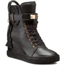 Sneakersy R.POLAŃSKI - 0832 Czarny Lico. Czarne sneakersy damskie marki R.Polański, ze skóry, na obcasie. W wyprzedaży za 369,00 zł.