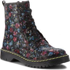 Buty zimowe damskie: Trapery MACIEJKA - 01609-12/00-3 Kwiatki Na Czarnym
