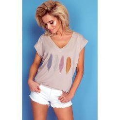 Bluzka z dekoltem k150. Czerwone bluzki z odkrytymi ramionami marki SALE, l, z krótkim rękawem. Za 69,90 zł.