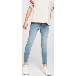 Mango Kids - Jeansy dziecięce Rosan 110-164 cm. Niebieskie jeansy dziewczęce Mango Kids, z bawełny. Za 69,90 zł.