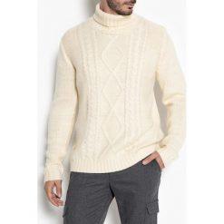 Kardigany męskie: Sweter z golfem z grubej dzianiny