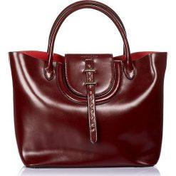 """Torebki klasyczne damskie: Skórzana torebka """"Diane"""" w kolorze bordowym – 40 x 26 x 14 cm"""