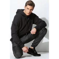 Ciemnoszara Bluza Don't Sweat. Czarne bluzy męskie rozpinane marki Born2be, l, z aplikacjami, z dresówki. Za 144,99 zł.