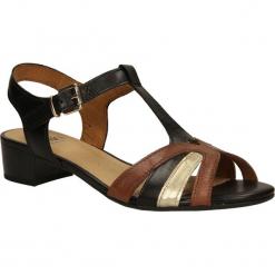 SANDAŁY CAPRICE 9-28115-24. Brązowe sandały damskie Caprice. Za 169,99 zł.