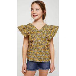 Mango Kids - Top dziecięcy Candy 110-152 cm. Szare bluzki dziewczęce bawełniane Mango Kids, z krótkim rękawem. Za 89,90 zł.
