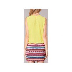 Sukienki krótkie Moony Mood  IEVELI. Żółte sukienki hiszpanki Moony Mood, l, z krótkim rękawem, mini. Za 103,20 zł.