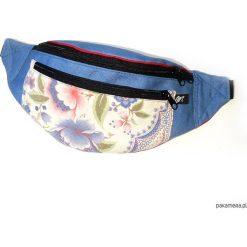 Torebki klasyczne damskie: niebieska w kwiaty