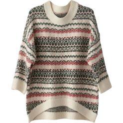 Kardigany damskie: Sweter, okrągłe wycięcie szyi, gruby splot