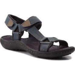 Sandały męskie: Sandały LASOCKI FOR MEN - MI18-975 Granatowy