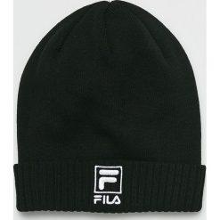 Fila - Czapka. Czarne czapki zimowe męskie Fila, na zimę, z bawełny. Za 119,90 zł.