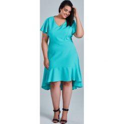 66a11e413d Miętowa sukienka NILA na wesele duże rozmiary OVERSIZE PLUS SIZE WIOSNA.  Zielone sukienki damskie Moda