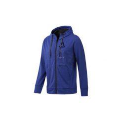 Bluzy Reebok Sport  Bluza z kapturem Speedwick Full-Zip. Niebieskie bluzy męskie rozpinane Reebok Sport, l, z kapturem. Za 279,00 zł.