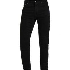 Topman EYELET Jeansy Slim Fit black. Czarne jeansy męskie Topman. Za 249,00 zł.