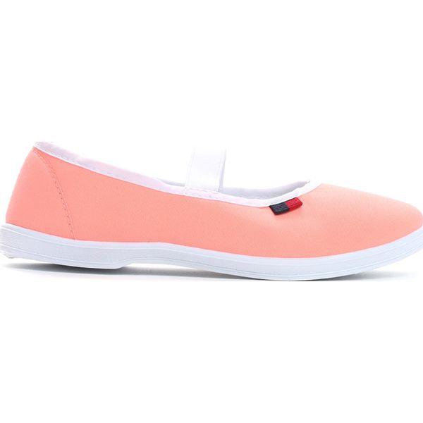 2863483148632 Pomarańczowe Tenisówki Big Star - Pomarańczowe buty dziewczęce sportowe  Born2be, z materiału, retro, z okrągłym noskiem. Za 19,99 zł.