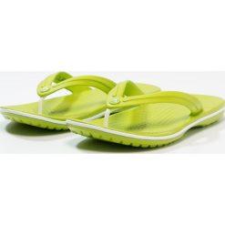 Crocs CROCBAND FLIP Japonki kąpielowe volt green/white. Zielone japonki damskie marki Crocs, z materiału. Za 139,00 zł.