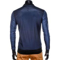 BLUZA MĘSKA ROZPINANA BEZ KAPTURA B749 - GRANATOWA. Niebieskie bluzy męskie rozpinane marki Ombre Clothing, m, z bawełny, bez kaptura. Za 69,00 zł.