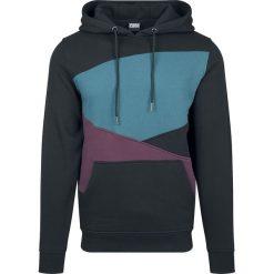 Bluzy męskie: Urban Classics Zig Zag Hoodie Bluza z kapturem czarny/niebiesko-zielony/burgundowy