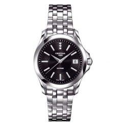 RABAT ZEGAREK CERTINA DS. PRIME ROUND C004.210.11.056.00. Czarne zegarki damskie CERTINA, ze stali. W wyprzedaży za 1381,60 zł.