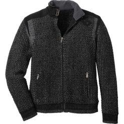 Sweter rozpinany Regular Fit bonprix czarno-dymny szary. Czarne kardigany męskie bonprix, l, ze splotem. Za 149,99 zł.