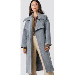 Trendyol Płaszcz Oversized Archer - Grey. Szare płaszcze damskie Trendyol, w paski. Za 323,95 zł.