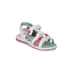 Sandały Dziecko  Catimini  PEKANS. Białe sandały dziewczęce marki Born2be, z materiału, na sznurówki. Za 279,20 zł.