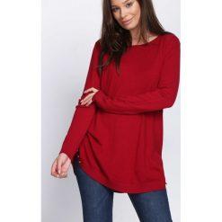 Bordowy Sweter Coming Home. Czerwone swetry klasyczne damskie Born2be, l, z okrągłym kołnierzem. Za 79,99 zł.