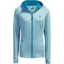 Bluza damska BLD604 - jasny niebieski melanż - Outhorn. Niebieskie bluzy rozpinane damskie Outhorn, melanż, z materiału. Za 119,99 zł.