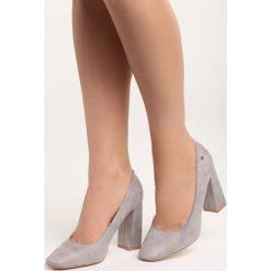 Szare Czółenka Take No More. Szare buty ślubne damskie marki Born2be, na wysokim obcasie, na słupku. Za 79,99 zł.