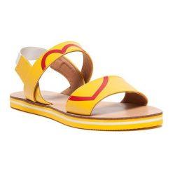 Sandały damskie: Sandały w kolorze żółtym