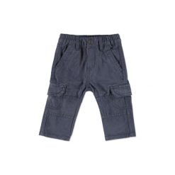 Staccato Boys Baby Spodnie Cargo stone blue. Niebieskie spodnie chłopięce marki Staccato, z bawełny. Za 57,50 zł.