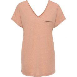 T-shirty damskie: T-shirt z lureksową nitką bonprix terakota melanż