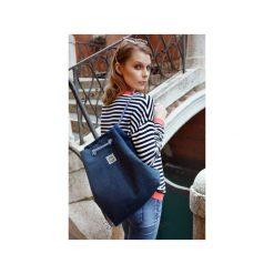 Plecak CITY BAG GRANATOWY. Niebieskie plecaki damskie Intensi, z bawełny. Za 149,00 zł.