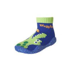 Playshoes  Buty do wody Krokodyl marine - niebieski - Gr.Moda (6 - 24 miesięcy ). Niebieskie buciki niemowlęce marki Playshoes, z elastanu. Za 39,00 zł.
