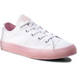 Trampki dziewczęce: Tenisówki CONVERSE – Ctas Ox 660719C White/Cherry Blossom