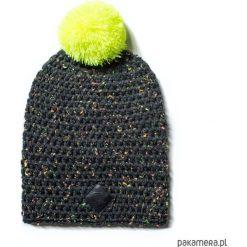 Czapka dziana KRAFF BLACK FUN handmade. Czarne czapki damskie Pakamera, z aplikacjami, z dzianiny. Za 119,00 zł.