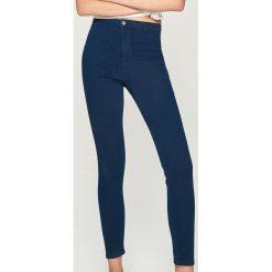 Jeansy skinny high waist - Granatowy. Niebieskie jeansy damskie skinny marki House, z jeansu. Za 49,99 zł.