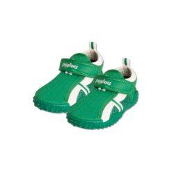 Playshoes  Buty do wody Aqua kolor zielony. Niebieskie buciki niemowlęce chłopięce marki Born2be, z materiału, z okrągłym noskiem, na obcasie. Za 51,00 zł.