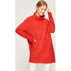 Sweter oversize z golfem - Czerwony. Czerwone golfy damskie marki Sinsay, l. Za 79,99 zł.