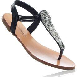 Sandały japonki bonprix czarny. Czarne klapki damskie bonprix. Za 29,99 zł.