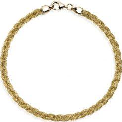 Złota Bransoletka - złoto żółte 585. Żółte bransoletki damskie na nogę W.KRUK, złote. Za 1690,00 zł.