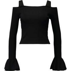 Bluzki asymetryczne: Navy London SHARA Bluzka z długim rękawem black