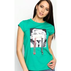 T-shirty damskie: Zielony T-shirt Used Famous