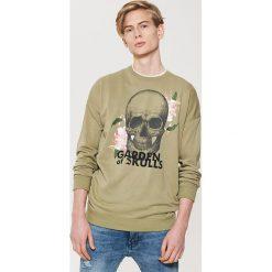 Odzież męska: Bluza z motywem - Zielony