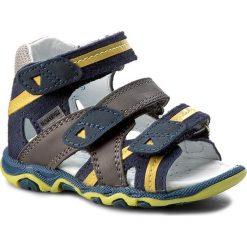 Sandały BARTEK - 11708 Niebiesko Szary. Niebieskie sandały męskie skórzane marki Bartek. W wyprzedaży za 169,00 zł.