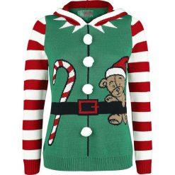 Ugly Christmas Sweater Weihnachtselfe Sweter z dzianiny wielokolorowy. Szare swetry klasyczne damskie Ugly Christmas Sweater, m, z dzianiny, z okrągłym kołnierzem. Za 184,90 zł.